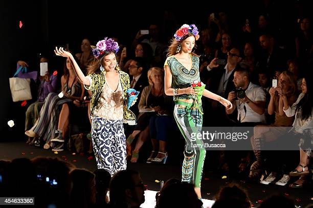 Models walk the runway at the Desigual fashion show during MercedesBenz Fashion Week Spring 2015 at The Theatre at Lincoln Center on September 4 2014...
