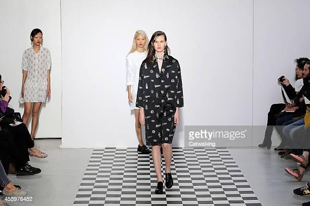 Models walk the runway at the Devastee Spring Summer 2015 fashion show during Paris Fashion Week on September 23 2014 in Paris France