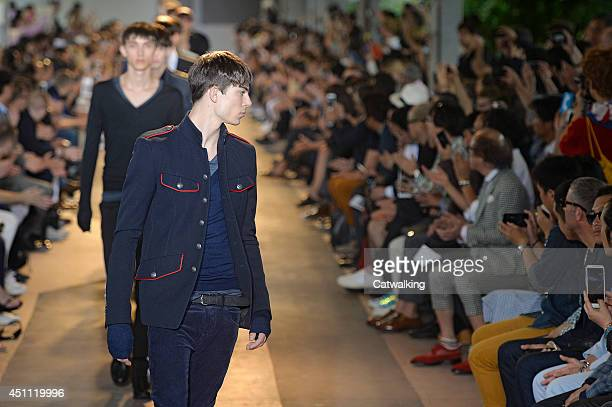 Models walk the runway at the Diesel Black Gold Spring Summer 2015 fashion show during Milan Menswear Fashion Week on June 23 2014 in Milan Italy