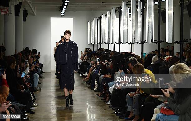 Models walk the runway at the Dion Lee fashion show during Fall 2016 MADE Fashion Week at Milk Studios on February 13 2016 in New York City
