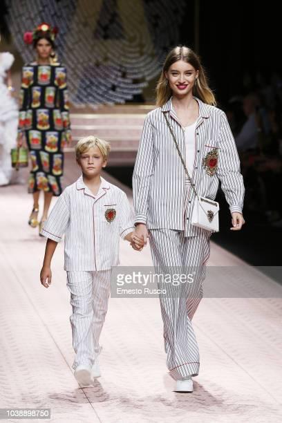 aec690c3f0e99 Models walk the runway at the Dolce Gabbana show during Milan Fashion Week  Spring Summer