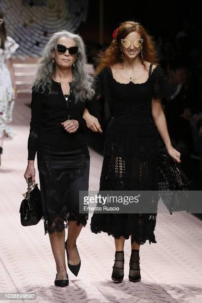 Models walk the runway at the Dolce Gabbana show during Milan Fashion Week Spring/Summer 2019 on September 23 2018 in Milan Italy