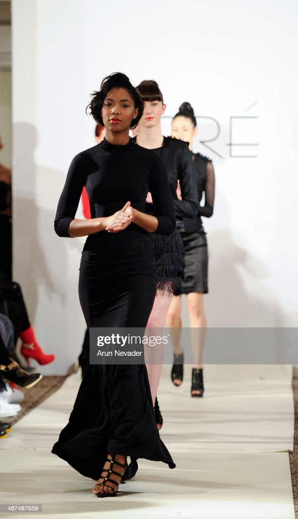Models walk the runway at the Dore fashion show during Mercedes-Benz Fashion Week Fall 2014 at Empire Hotel on February 6, 2014 in New York City.