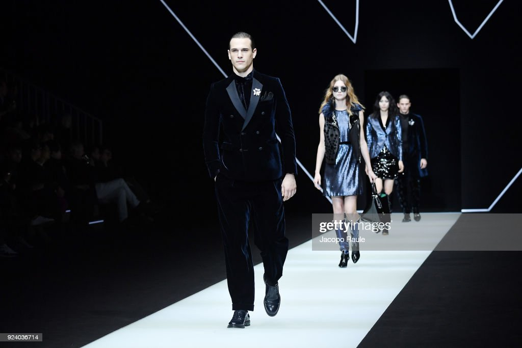 Emporio Armani - Runway - Milan Fashion Week Fall/Winter 2018/19