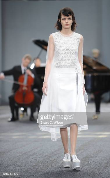 Models walk the runway at the Erdem show during London Fashion Week SS14 at on September 16 2013 in London England