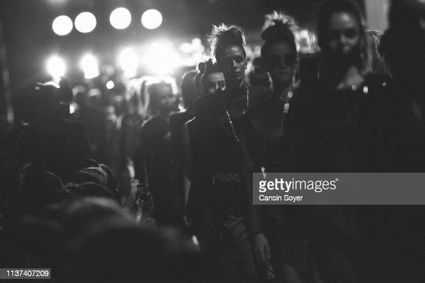Models walk the runway at the Ezra Tuba show during MercedesBenz Istanbul Fashion Week on March 21 2019 in Istanbul Turkey