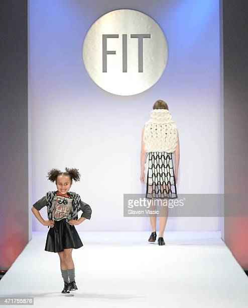 Models walk the runway at The Fashion Institute Of Technology's Future Of Fashion Runway Show hosted by Nicole Richie at The Fashion Institute of...