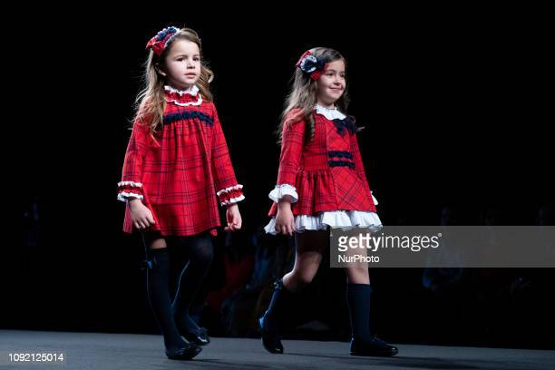 Models walk the runway at the fashion show during the FIMI Kids Fashion Week on June 22 2018 in Madrid Spain