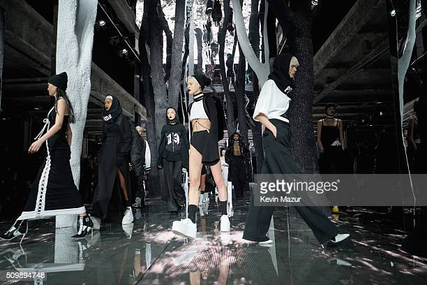 Models walk the runway at the FENTY PUMA by Rihanna AW16 Collection during Fall 2016 New York Fashion Week at 23 Wall Street on February 12 2016 in...