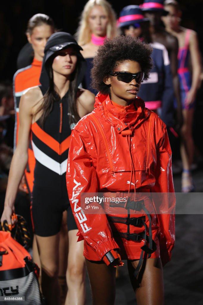 brand new c18bb 4f644 Models walk the runway at the FENTY PUMA by Rihanna Spring ...