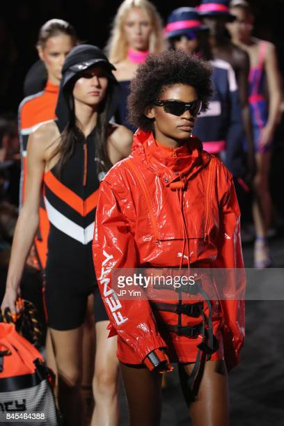 Models walk the runway at the FENTY PUMA by Rihanna Spring/Summer 2018 Collection at Park Avenue Armory on September 10 2017 in New York City