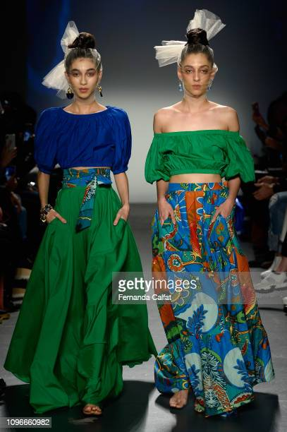 Models walk the runway at the Flying Solo Fashion Show during NYFW February 2019 at Pier 59 on February 9 2019 in New York City