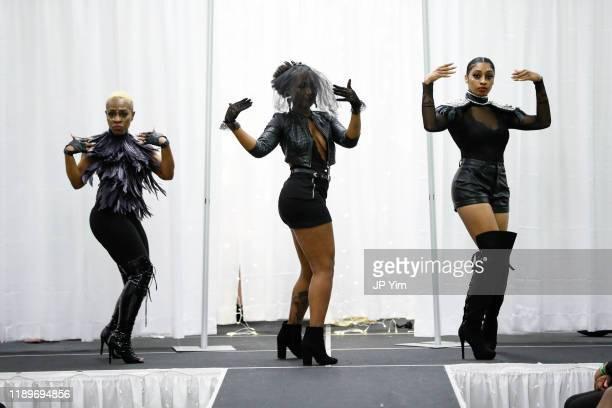 Models walk the runway at the FTM Fashion Week S7 at Sturgeon City on November 23 2019 in Jacksonville North Carolina