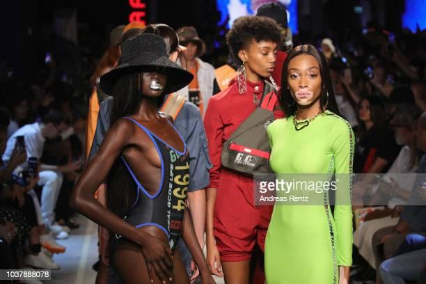 Models walk the runway at the GCDS show during Milan Fashion Week Spring/Summer 2019 on September 22 2018 in Milan Italy