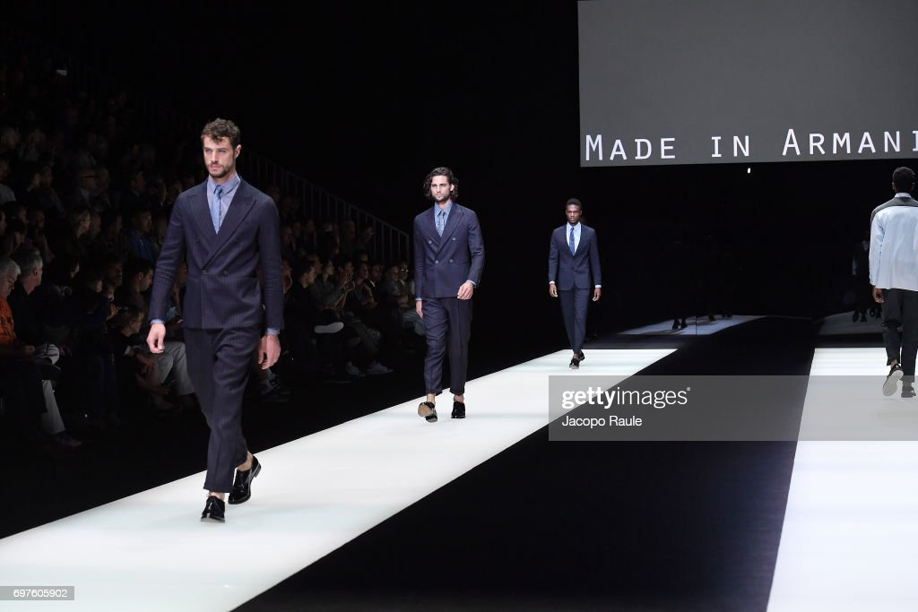 Giorgio Armani - Runway - Milan Men's Fashion Week Spring/Summer 2018 : ニュース写真