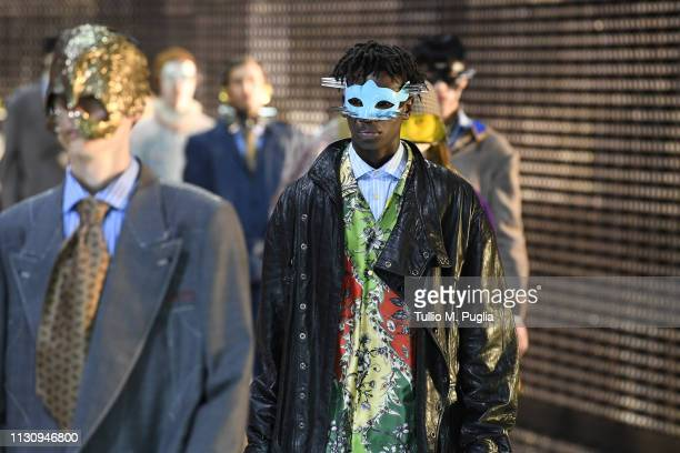 Models walk the runway at the Gucci show during Milan Fashion Week Autumn/Winter 2019/20 on February 20 2019 in Milan Italy