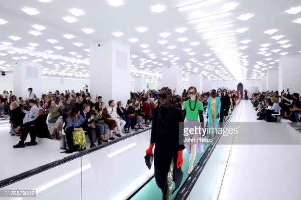 Models walk the runway at the Gucci Spring/Summer 2020 fashion show during Milan Fashion Week on September 22 2019 in Milan Italy