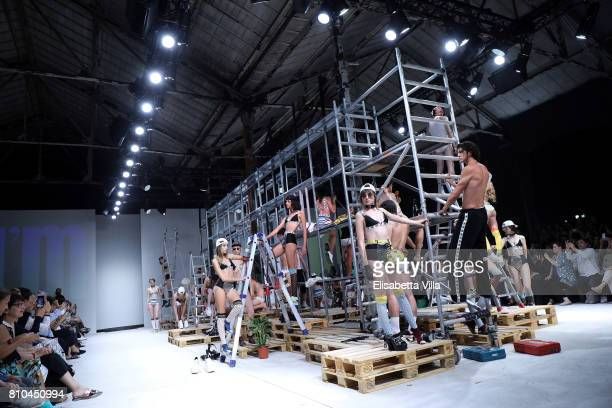 Models walk the runway at the I'M Isola Marras Show during Altaroma at Guido Reni District on July 7 2017 in Rome Italy