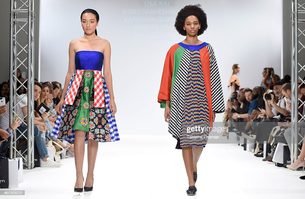 Models walk the runway at the INIFD-LST show at Fashion Scout during London Fashion Week Spring/Summer collections 2017 on September 17, 2016 in London, United Kingdom.