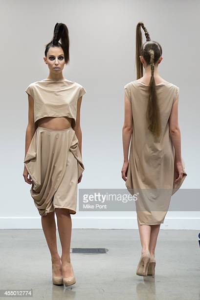 Models walk the runway at the Isabelle Donola NYC fashion show during MercedesBenz Fashion Week Spring 2015 on September 8 2014 in New York City