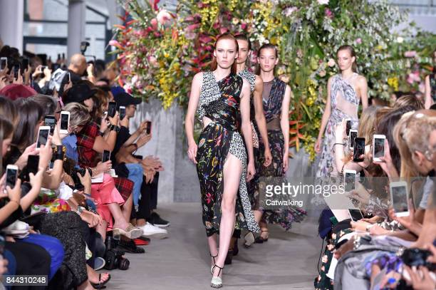 Models walk the runway at the Jason Wu Spring Summer 2018 fashion show during New York Fashion Week on September 8 2017 in New York United States