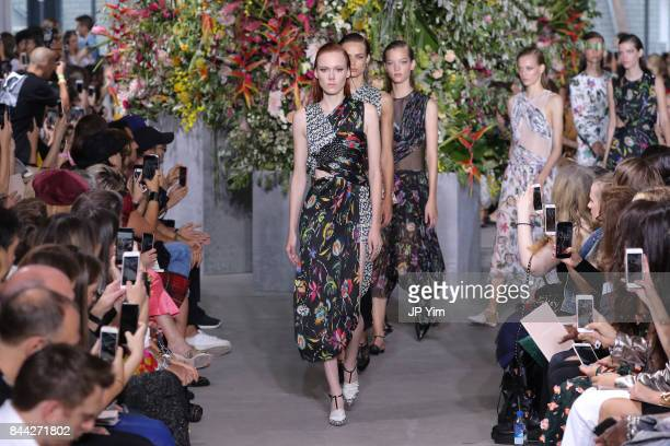 Models walk the runway at the Jason Wu SS 2018 Collection at Fulton Market during New York Fashion Week on September 8 2017 in New York City