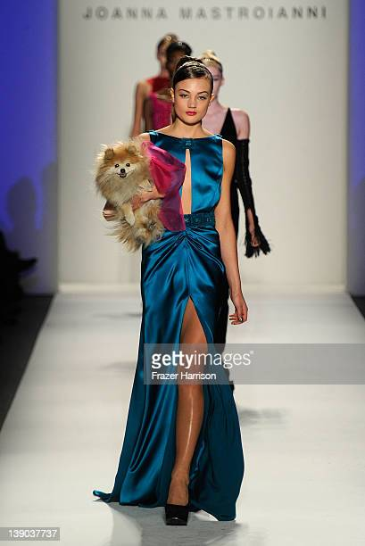 Models walk the runway at the Joanna Mastroianni Fall 2012 fashion show during MercedesBenz Fashion Week at The Studio at Lincoln Center on February...