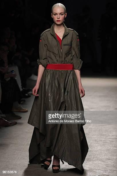 Models walk the runway at the Josephus Thimister HauteCouture fashion show during Paris Fashion Week Spring/Summer 2010 at the Palais De Tokyo on...