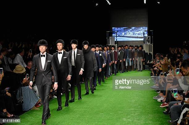 Models walk the runway at the Kigili show during MercedesBenz Fashion Week Istanbul at Zorlu Center on October 12 2016 in Istanbul Turkey