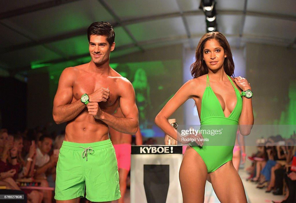 FL: KYBOE! Watches Miami Swim Week - Runway