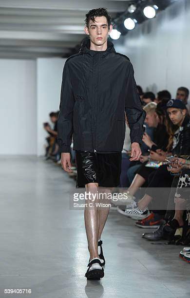 Models walk the runway at the Lou Dalton show during The London Collections Men SS17 at BFC Show Space on June 11 2016 in London England