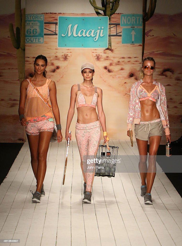 75cd293b99 Models walk the runway at the Maaji Swimwear fashion show during ...