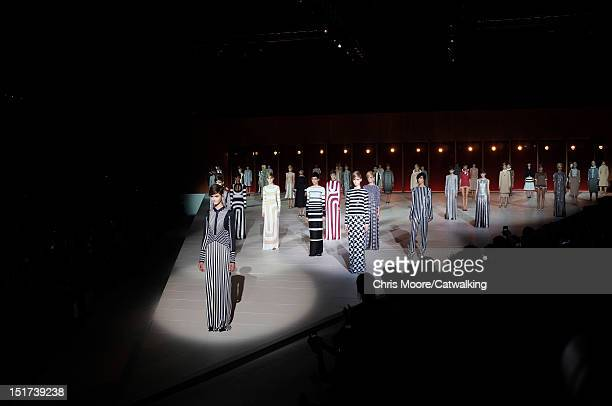 Models walk the runway at the Marc Jacobs Spring Summer 2013 fashion show during New York Fashion Week on September 10, 2012 in New York, United...