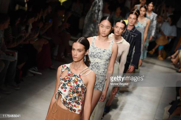 Models walk the runway at the Marco Rambaldi show during the Milan Fashion Week Spring/Summer 2020 on September 18 2019 in Milan Italy