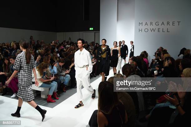 Models walk the runway at the Margaret Howell show during London Fashion Week September 2017 on September 17 2017 in London England