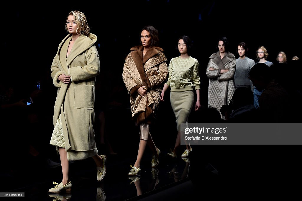 Models walk the runway at the Max Mara show during the Milan Fashion Week Autumn/Winter 2015 on February 26, 2015 in Milan, Italy.