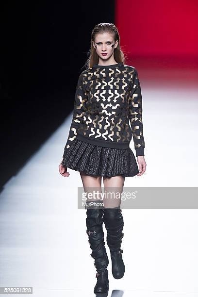 Models walk the runway at the Maya Hansen show during Madrid Fashion Week Fall/Winter 2015/16 at Ifema on February 10, 2015 in Madrid, Spain.