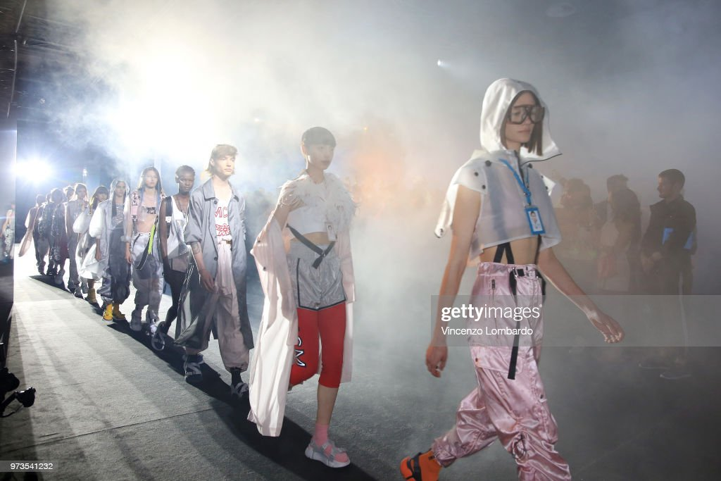 Models walk the runway at the MCM Fashion Show Spring/Summer 2019 during the 94th Pitti Immagine Uomo on June 13, 2018 in Florence, Italy.