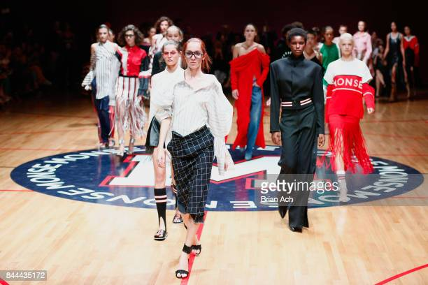 Models walk the runway at the Monse fashion show during New York Fashion Week The Shows on September 8 2017 in New York City
