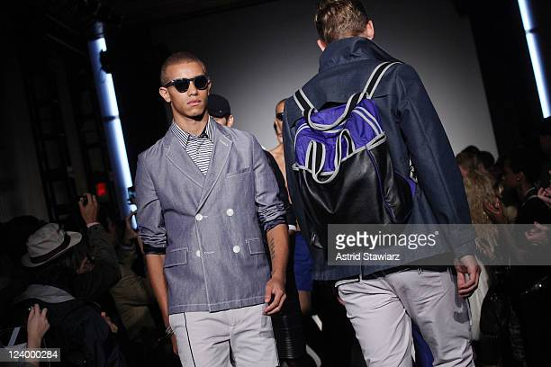 Models walk the runway at the NumberLab Spring 2012 fashion show during MercedesBenz Fashion Week at The High Line Room The Standard Hotel on...
