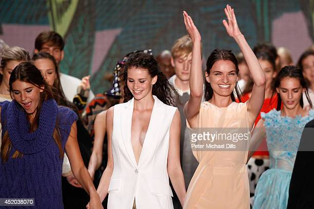Models walk the runway at the Opening Night by Grazia fashion show during the MercedesBenz Fashion Week Spring/Summer 2015 at Erika Hess Eisstadion...