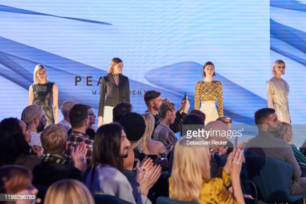 Models walk the runway at the PEARL Model Management Fashion Aperitif at The Reed on January 13 2020 in Berlin Germany