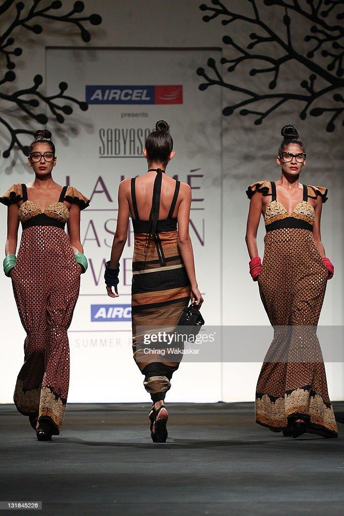 0080c11fb5b Models walk the runway at the Sabyasachi Mukherjee show at Lakme ...