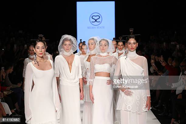 Models walk the runway at the Selma State show during MercedesBenz Fashion Week Istanbul at Zorlu Center on October 12 2016 in Istanbul Turkey