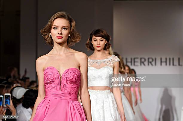 Models walk the runway at the Sherri Hill Spring 2016 fashion show during New York Fashion Week at The Plaza Hotel on September 13 2015 in New York...