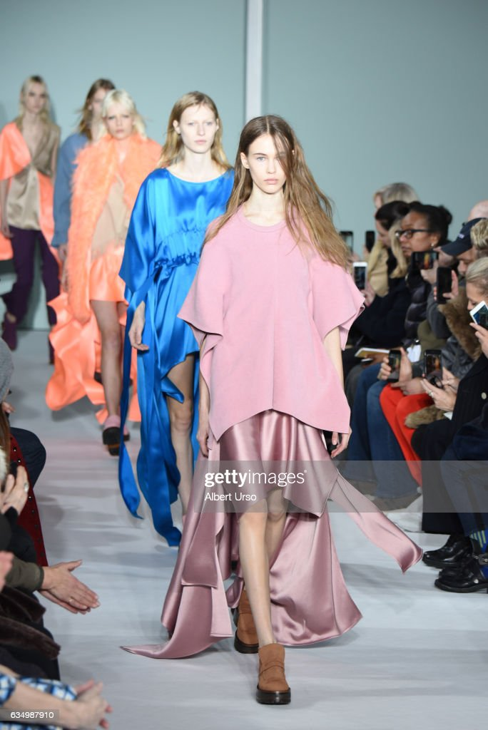 Models walk the runway at the Sies Marjan fashion show during New York Fashion Week on February 12, 2017 in New York City.