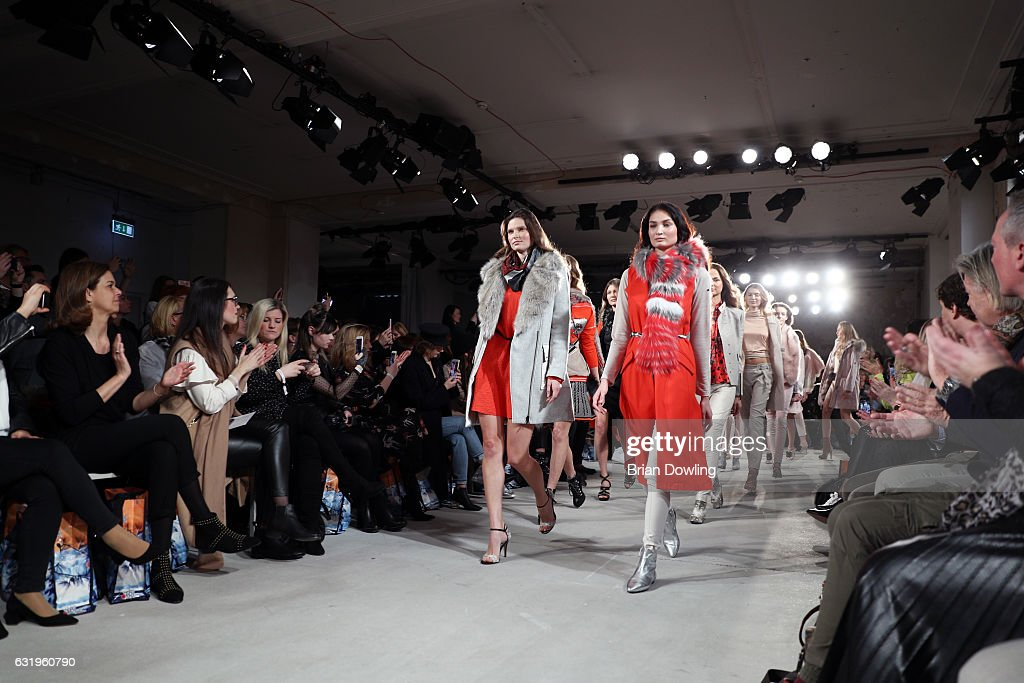 Models walk the runway at the Sportalm show during the Mercedes-Benz Fashion Week Berlin A/W 2017 at Kaufhaus Jandorf on January 18, 2017 in Berlin, Germany.