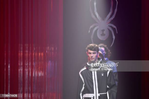 Models walk the runway at the Spyder fashion show during the Milan Men's Fashion Week Spring/Summer 2020 on June 17 2019 in Milan Italy