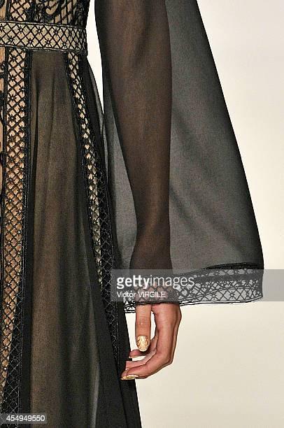 Models walk the runway at the Tadashi Shoji fashion show during MercedesBenz Fashion Week Spring 2015 at The Salon at Lincoln Center on September 4...