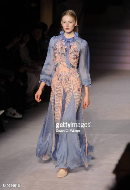 Models walk the runway at the Temperley London show during London Fashion Week February 2017 collections on February 19 2017 in London England